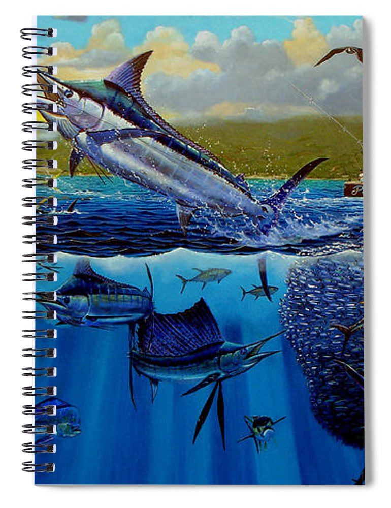 Los Suenos Spiral Notebook featuring the painting Los Suenos by Carey Chen