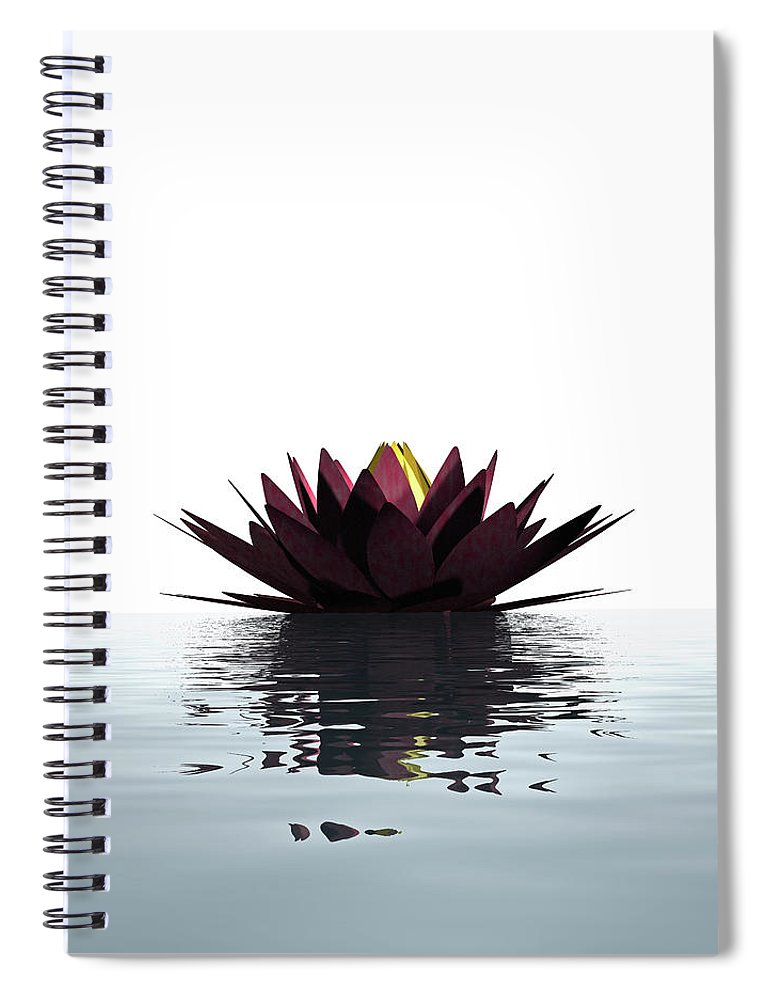 White Background Spiral Notebook featuring the photograph Lotus Flower Floating On The Water by Artpartner-images