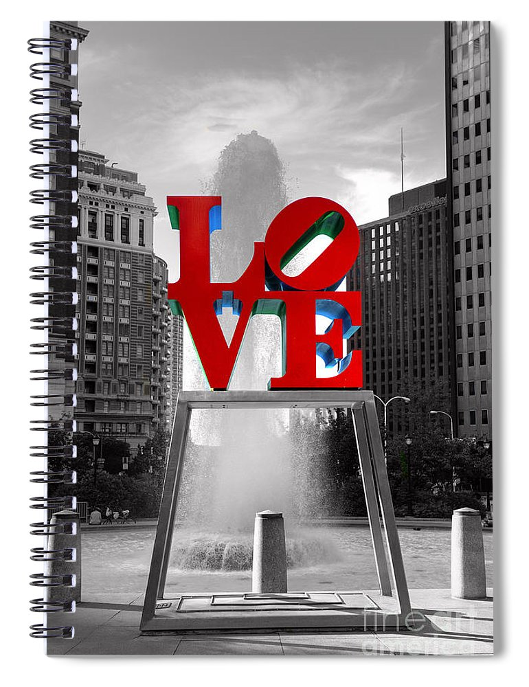 Paul Ward Spiral Notebook featuring the photograph Love Isn't Always Black And White by Paul Ward