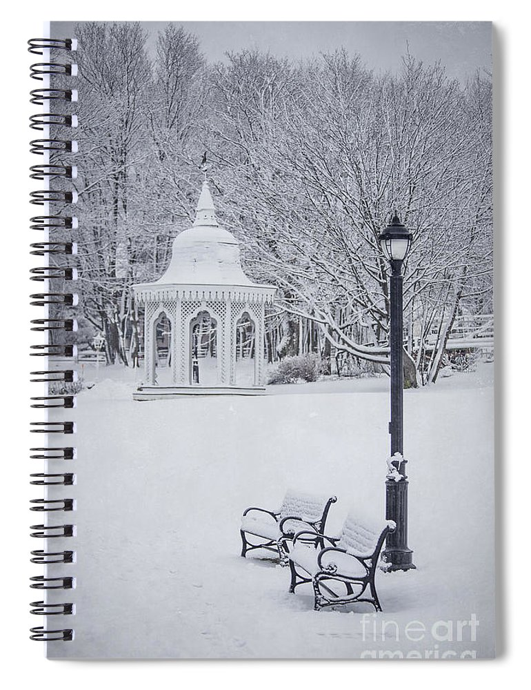 Bar Harbor Spiral Notebook featuring the photograph Love Through The Winter by Evelina Kremsdorf