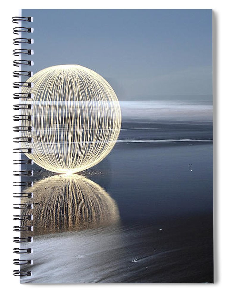 Light Painting Spiral Notebook featuring the photograph Low Tide Reflection by Andrew John Wells