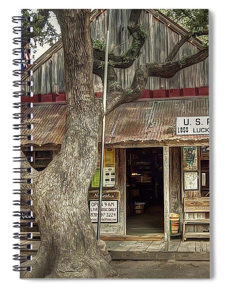 Luckenbach Spiral Notebook featuring the photograph Luckenbach 2 by Scott Norris
