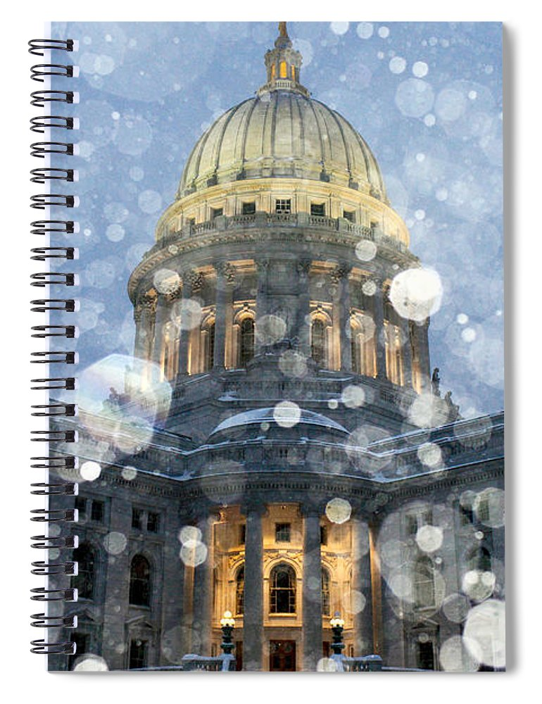Snow Spiral Notebook featuring the photograph Madisonian Winter by Todd Klassy