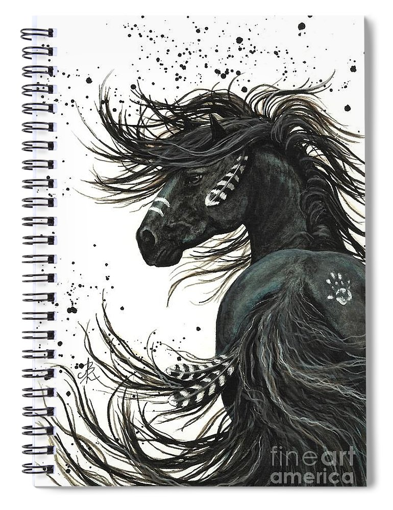 Mm65 Spiral Notebook featuring the painting Majestic Spirit Horse I by AmyLyn Bihrle