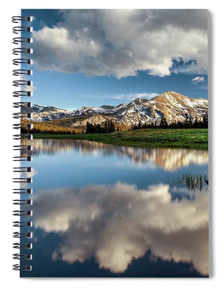 Scenics Spiral Notebook featuring the photograph Mammoth Peak Reflection by Tom Grubbe