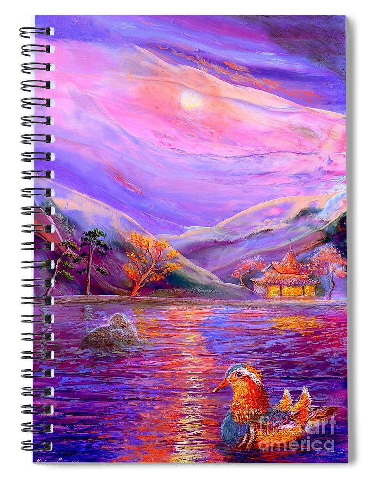 Blossom Spiral Notebook featuring the painting Mandarin Dream by Jane Small