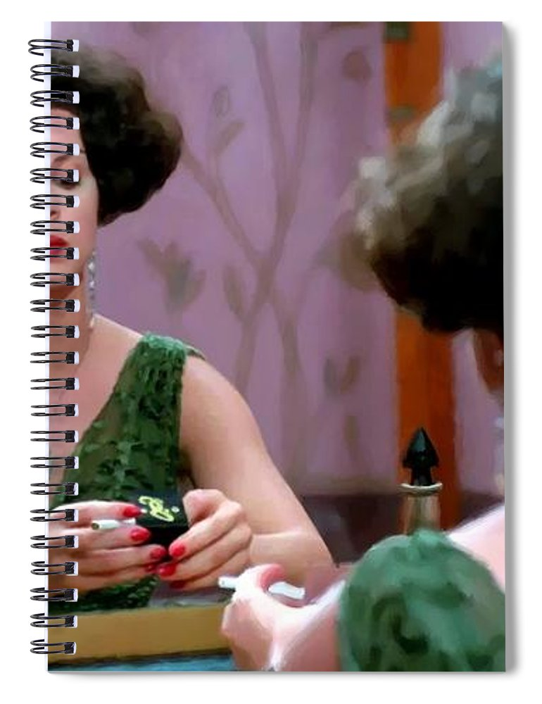 Ethan Coen Movies Spiral Notebook featuring the digital art Marcia Gay Harden as Verna Bernbaum in the film Miller s Crossing by Joel and Ethan Coen by Gabriel T Toro