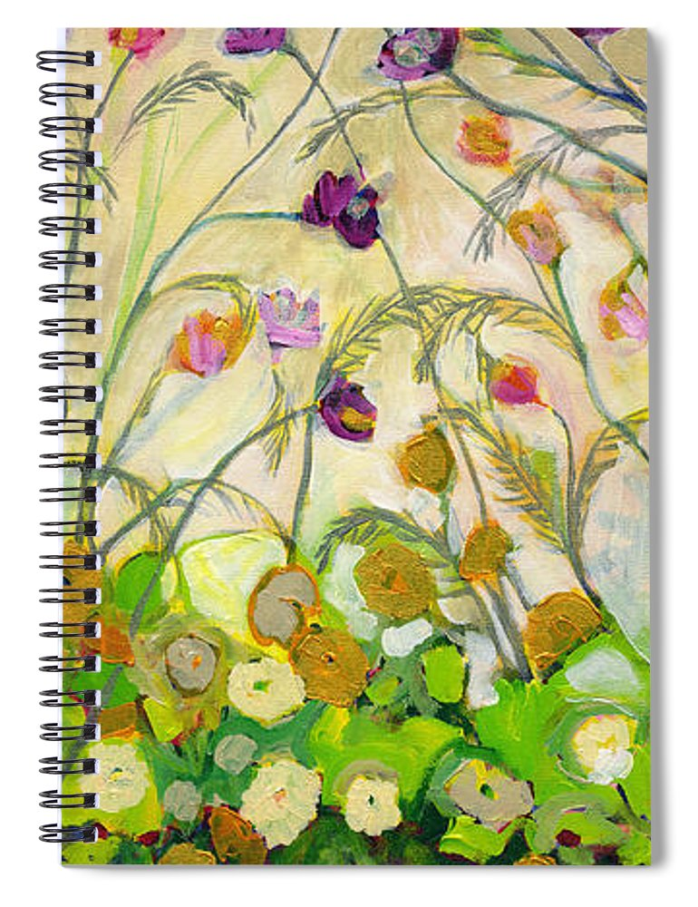 Landscape Spiral Notebook featuring the painting Mardi Gras by Jennifer Lommers