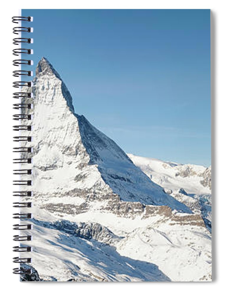 Scenics Spiral Notebook featuring the photograph Matterhorn Panorama by Georgeclerk