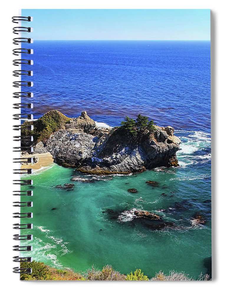 Scenics Spiral Notebook featuring the photograph Mcway Falls by David Toussaint