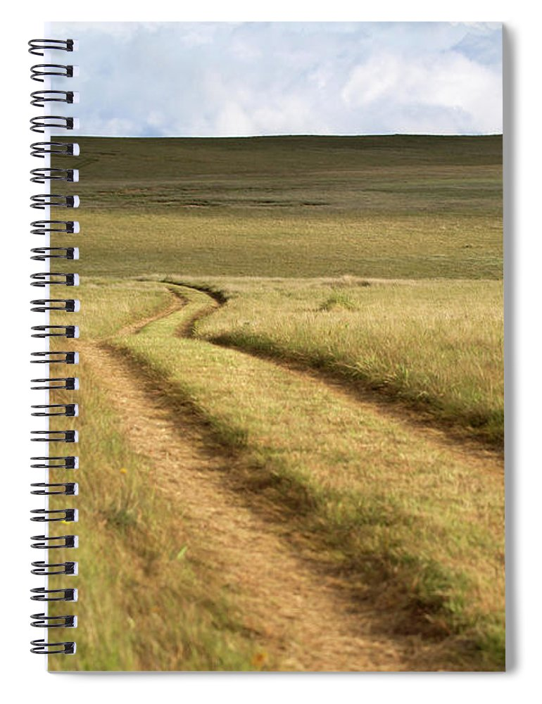 Scenics Spiral Notebook featuring the photograph Meandering Path Through The Hills Of by Morgan Trimble