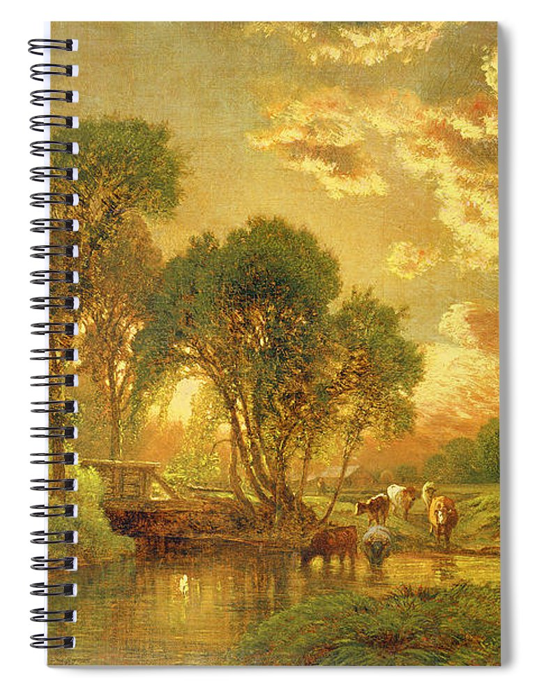Inness Spiral Notebook featuring the painting Medfield Massachusetts by Inness