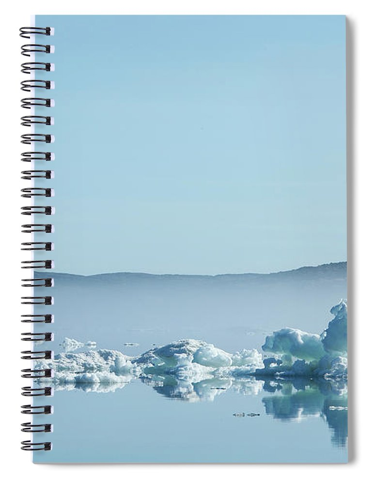 Scenics Spiral Notebook featuring the photograph Melting Sea Ice, Hudson Bay, Canada by Paul Souders