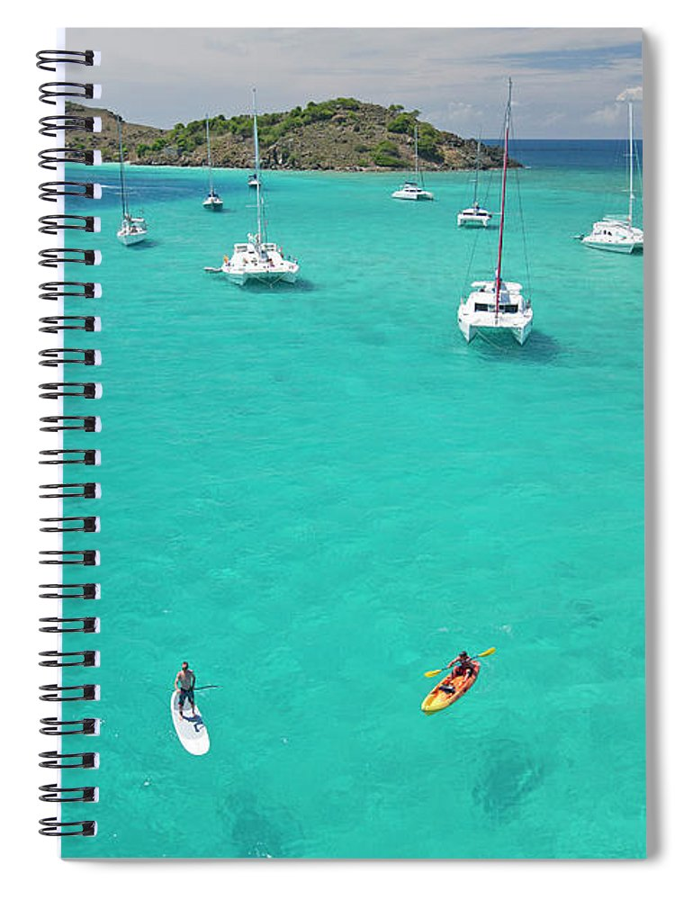 Scenics Spiral Notebook featuring the photograph Men Doing Water Activities by Karl Weatherly