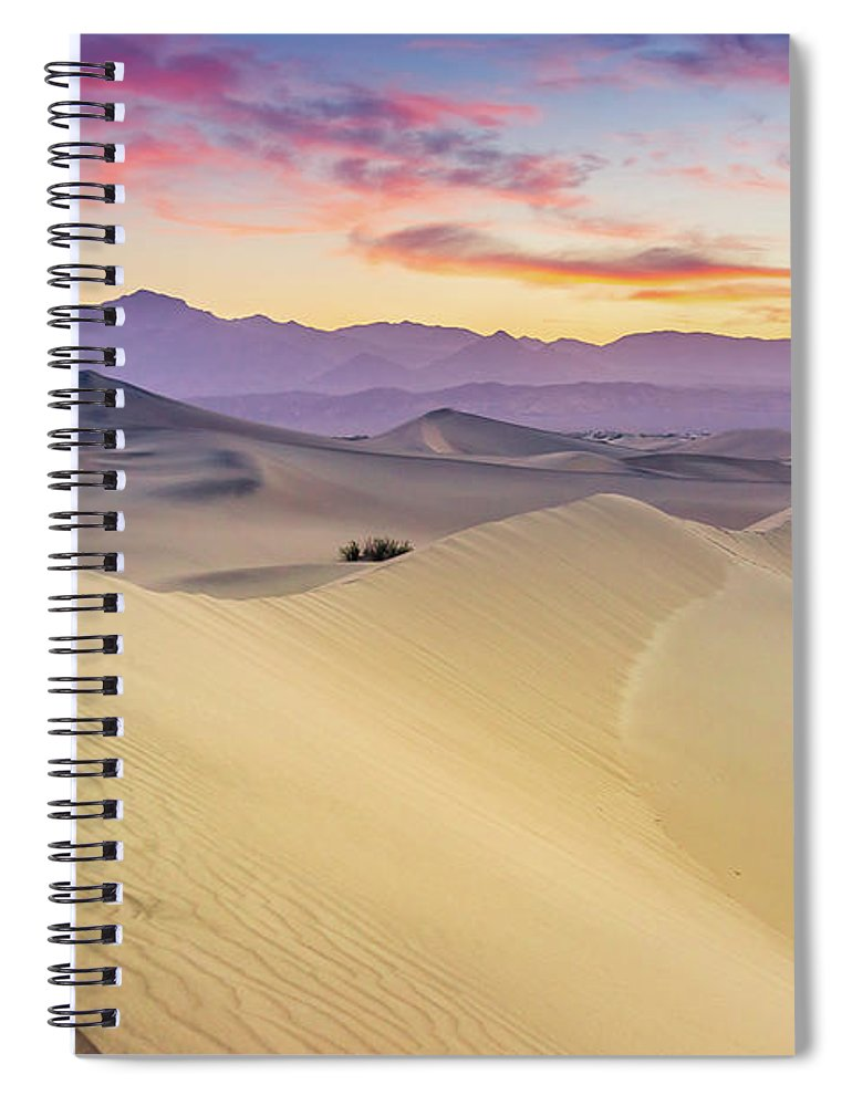 Tranquility Spiral Notebook featuring the photograph Mesquite Flat Sand Dunes by Zx1106