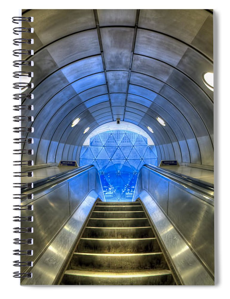 London Spiral Notebook featuring the photograph Metal Fusion by Evelina Kremsdorf