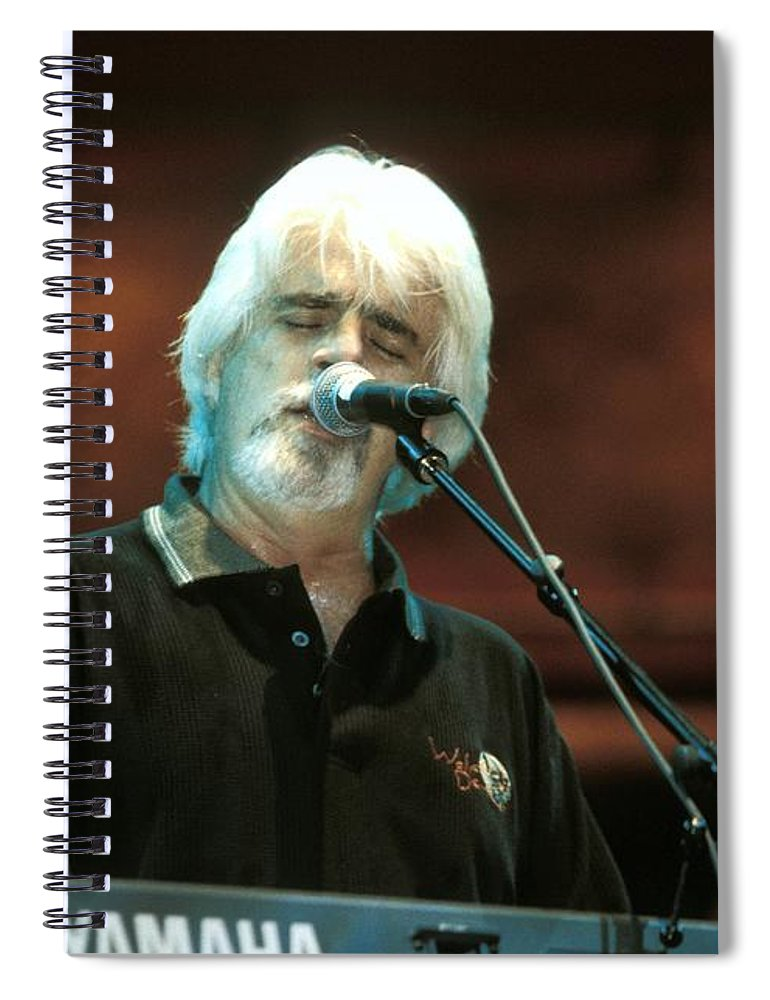 Keyboardist Spiral Notebook featuring the photograph Michael Mcdonald by Concert Photos