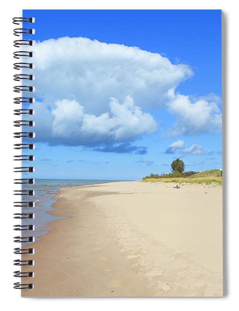 Lake Michigan Spiral Notebook featuring the photograph Michigan Lake Shore by Espiegle