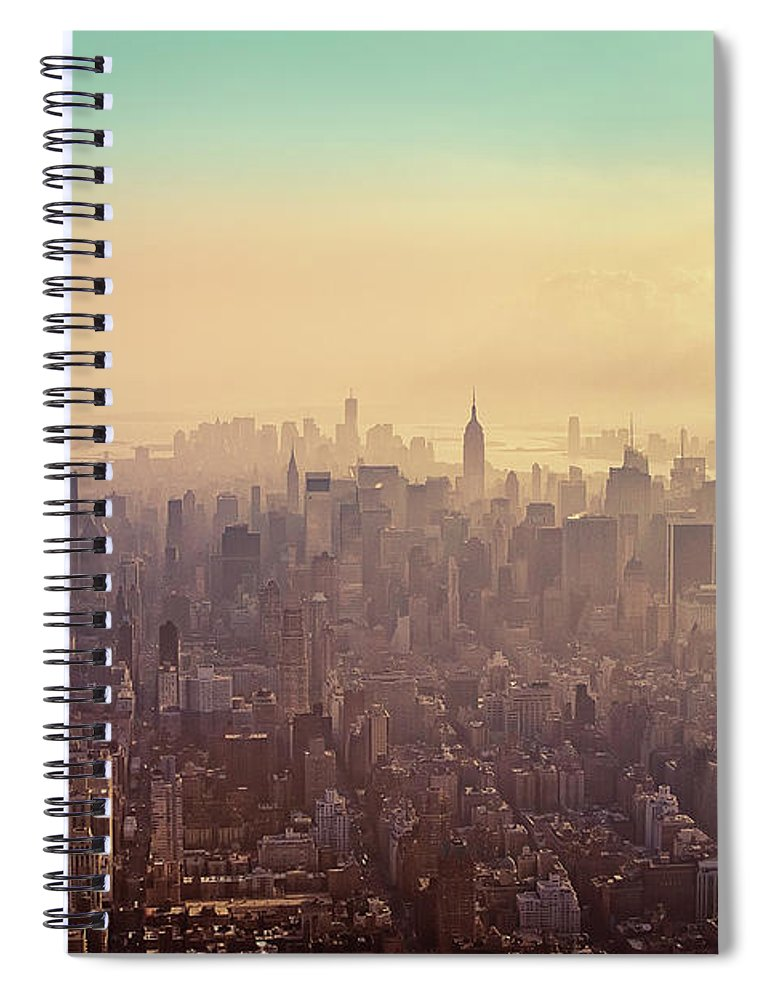 Outdoors Spiral Notebook featuring the photograph Midtown Manhattan At Dusk by Matthias Haker Photography