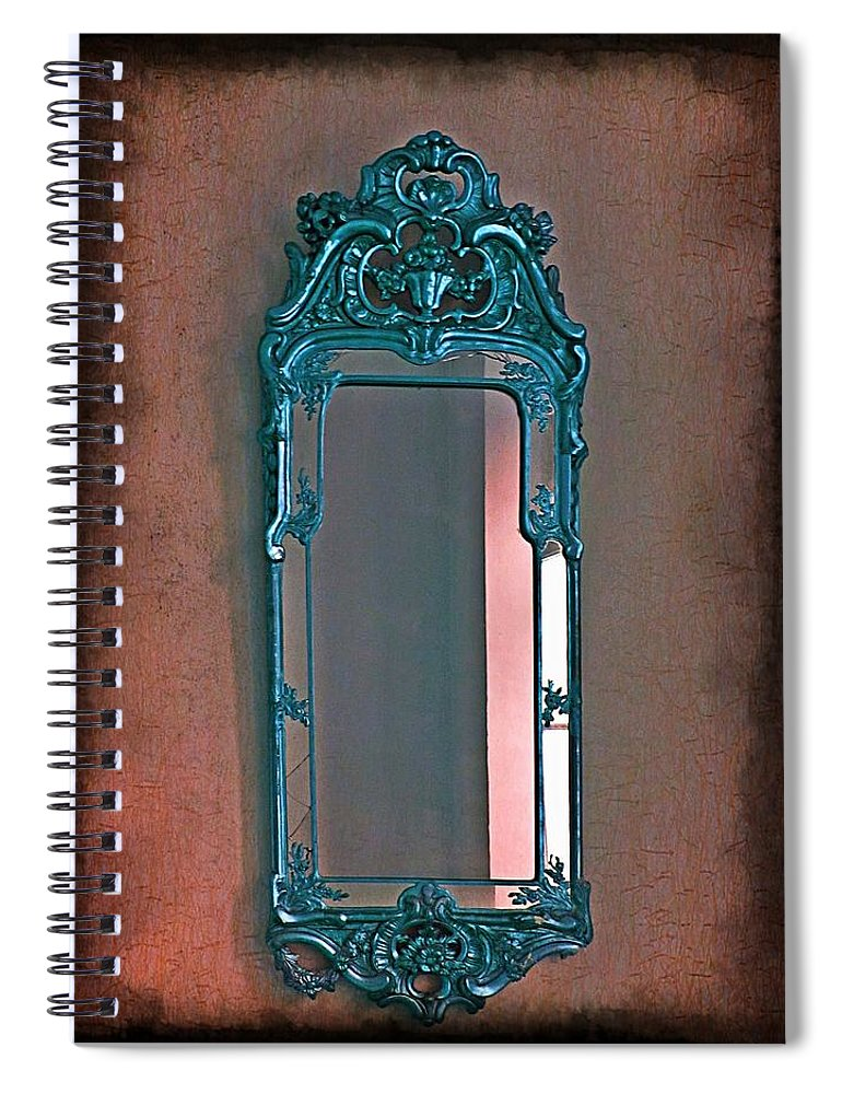 Mirror Spiral Notebook featuring the photograph Mirror Mirror On The Wall... by Marianna Mills