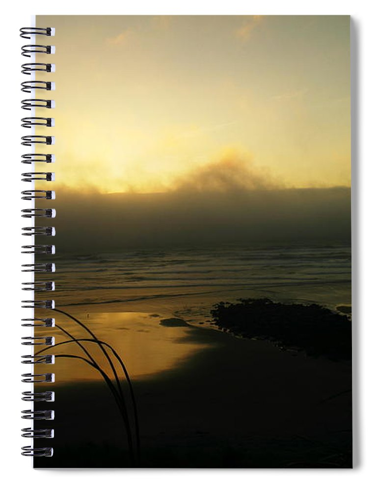 Ocean Spiral Notebook featuring the photograph Misty Oregon Coast by Jeff Swan
