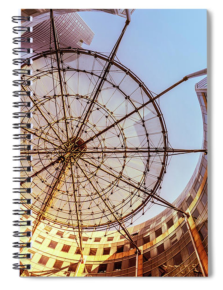 Corporate Business Spiral Notebook featuring the photograph Modern Architecture With Sun Shade by Warchi