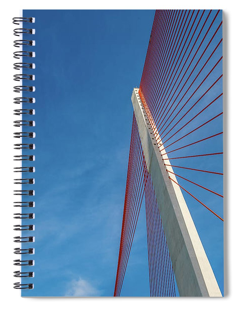 Hanging Spiral Notebook featuring the photograph Modern Suspension Bridge by Phung Huynh Vu Qui