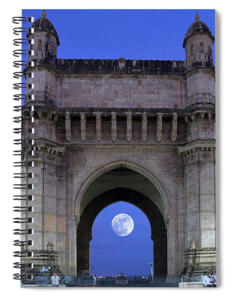 Arch Spiral Notebook featuring the photograph Monument Entrance by Grant Faint