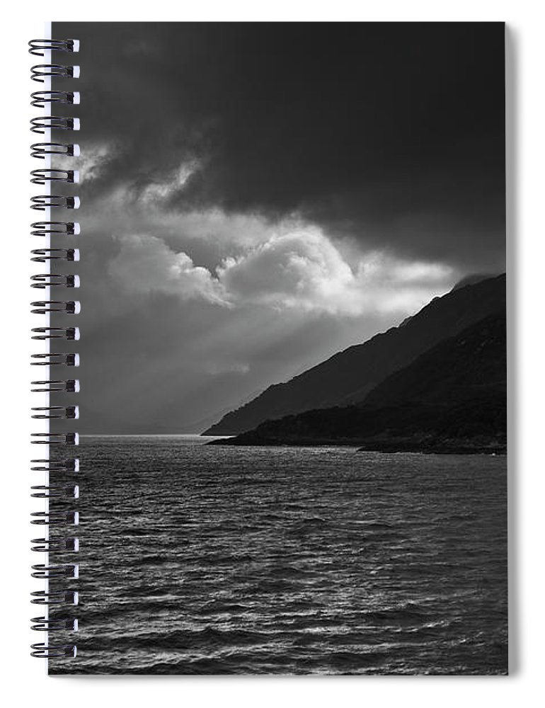 Scenics Spiral Notebook featuring the photograph Moody Scottish Weather by Charles Briscoe-knight