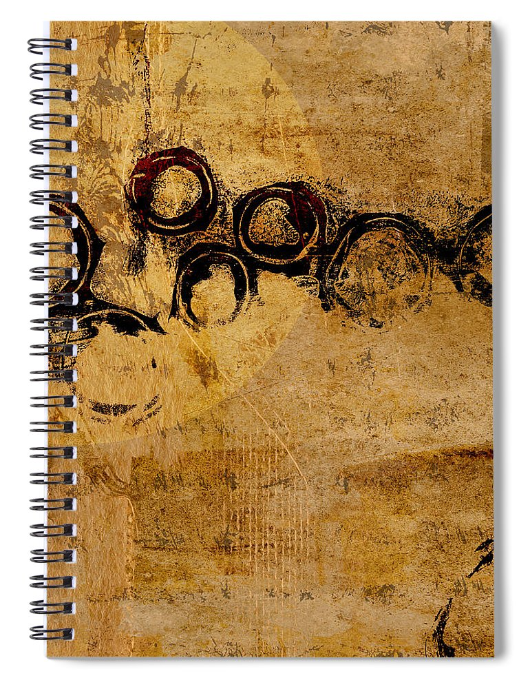 Moon Spiral Notebook featuring the photograph Moondance by Carol Leigh