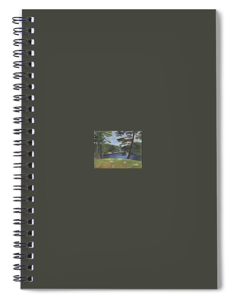 Moose River Spiral Notebook featuring the painting Moose River by Sheila Mashaw