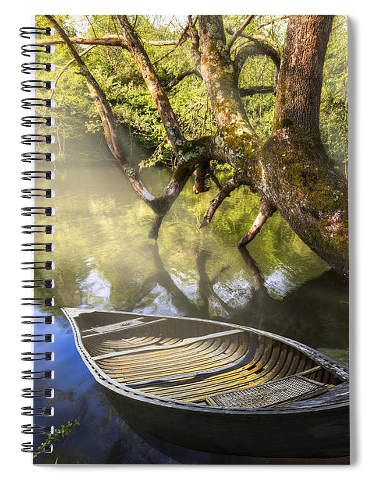 Appalachia Spiral Notebook featuring the photograph Morning Mists by Debra and Dave Vanderlaan