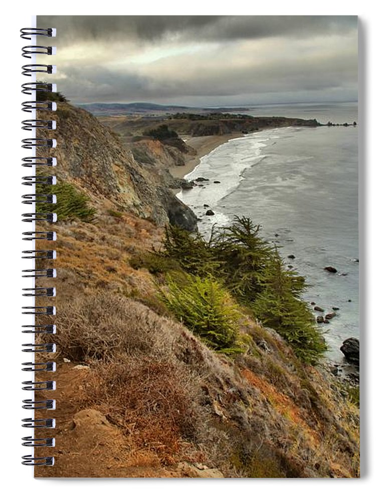Bug Sur Spiral Notebook featuring the photograph Morning Pacific Storm Clouds by Adam Jewell