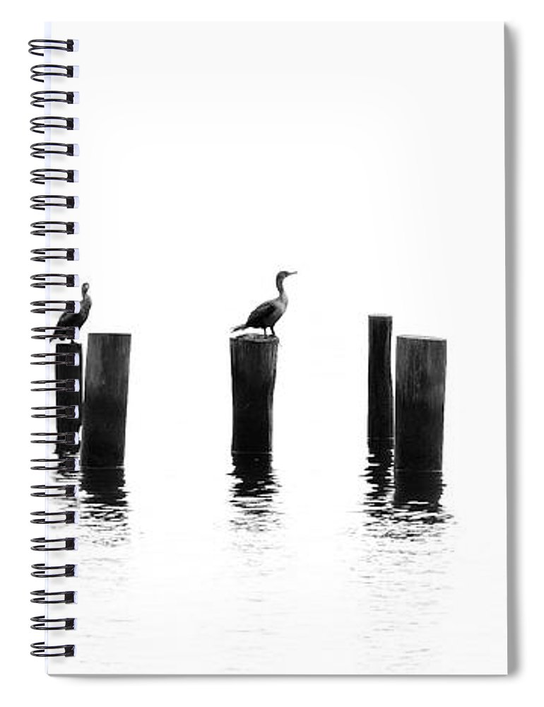 Panoramic Spiral Notebook featuring the photograph Morning Reflections by Chris Moore - Exploring Light Photography