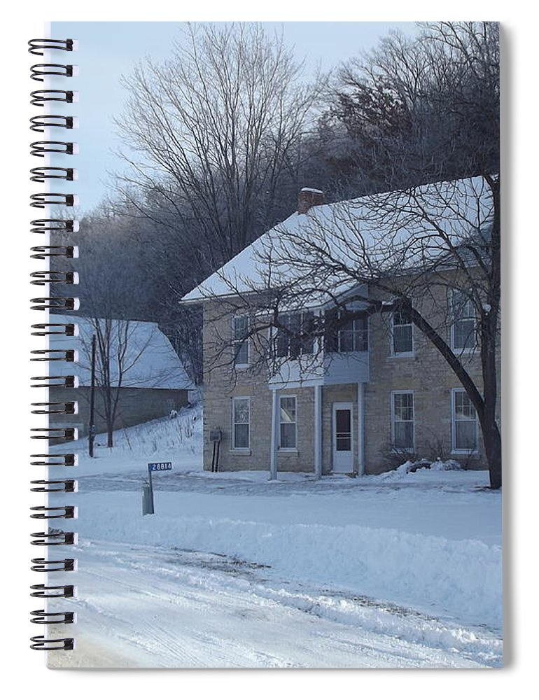 Elkader Iowa Spiral Notebook featuring the photograph Motor Mill Inn And Livery by Bonfire Photography
