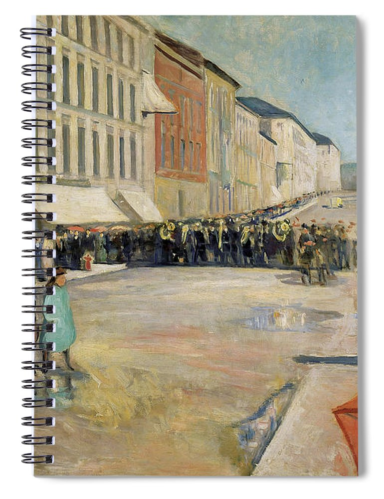 1889 Spiral Notebook featuring the painting Munch Musik, 1889 by Granger