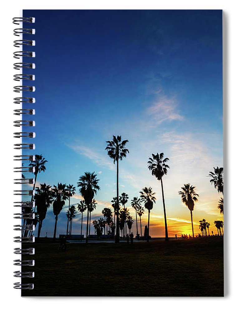 Shadow Spiral Notebook featuring the photograph Muscle Beach At Dusk by Extreme-photographer