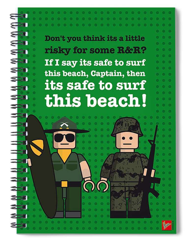 My Apocalypse Now Lego Dialogue Poster Spiral Notebook For Sale By Chungkong Art