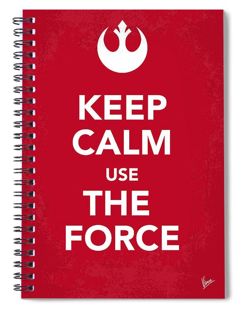Star Spiral Notebook featuring the digital art My Keep Calm Star Wars - Rebel Alliance-poster by Chungkong Art