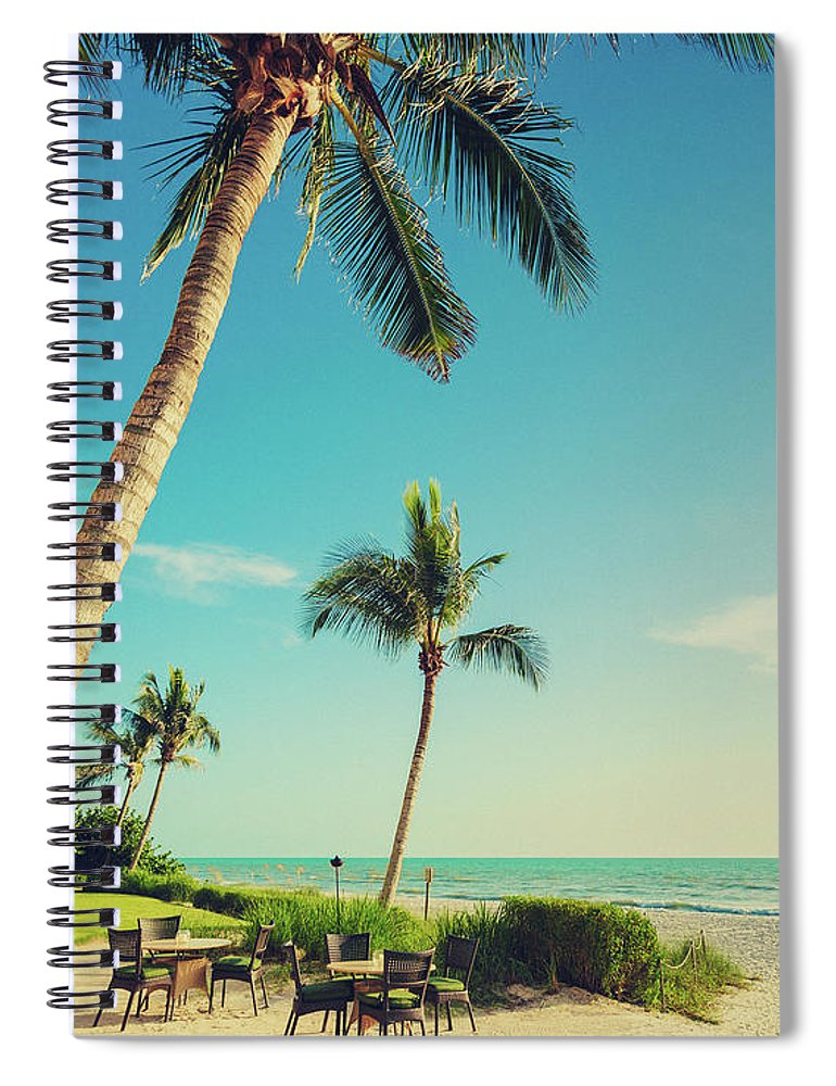 Vacations Spiral Notebook featuring the photograph Naple Beach Palms by Thepalmer