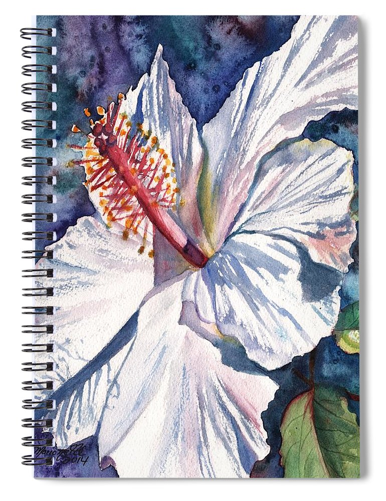 Hibiscus Spiral Notebook featuring the painting Native Hawaiian Hibiscus by Marionette Taboniar