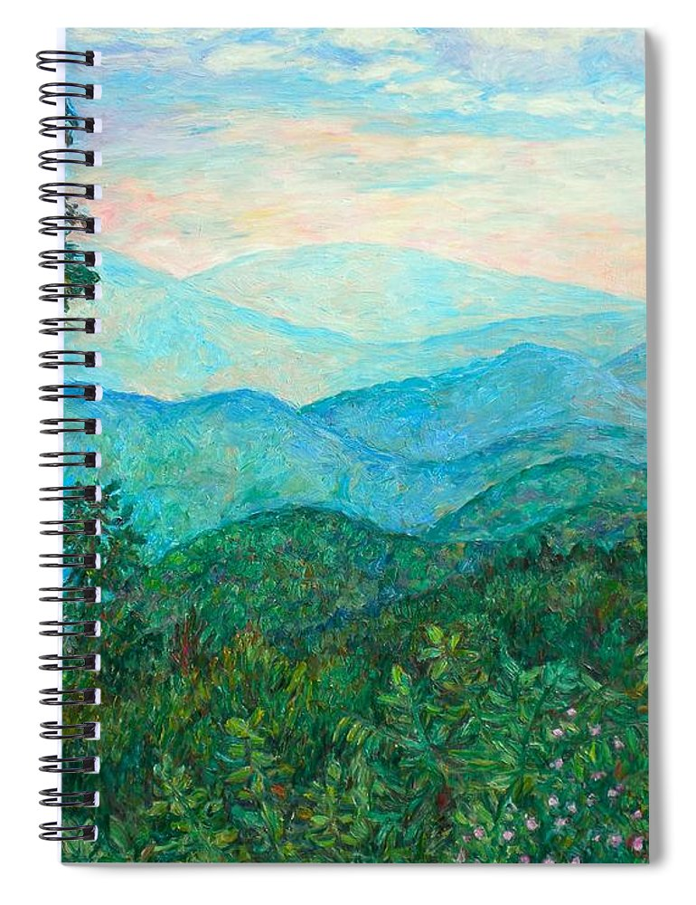 Landscape Spiral Notebook featuring the painting Near Purgatory by Kendall Kessler
