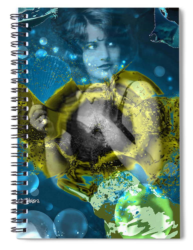 Neptune's Daughter Spiral Notebook featuring the digital art Neptune's Daughter by Seth Weaver