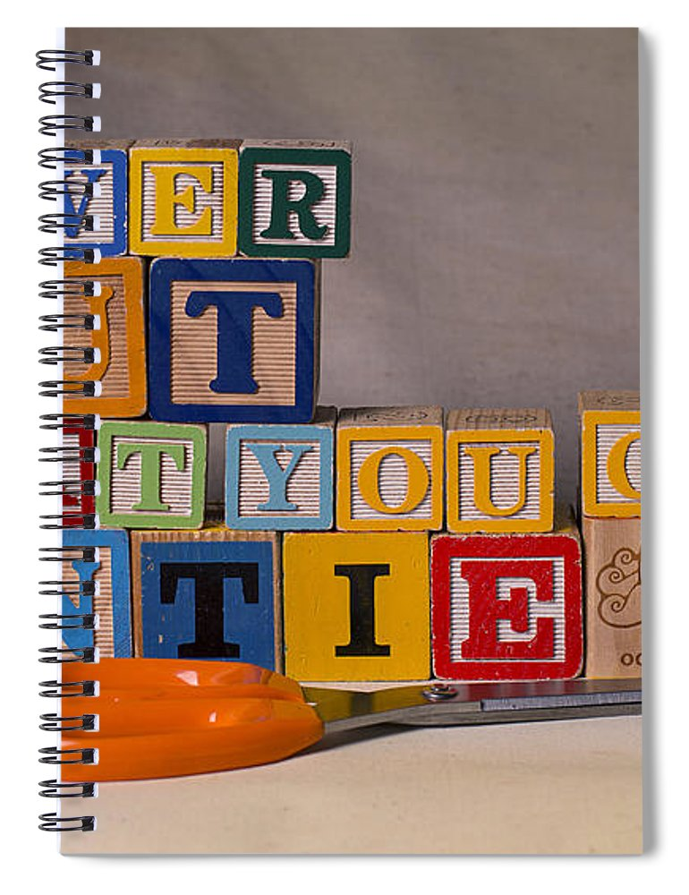 Never Cut What You Can Untie Spiral Notebook featuring the photograph Never Cut What You Can Untie by Art Whitton