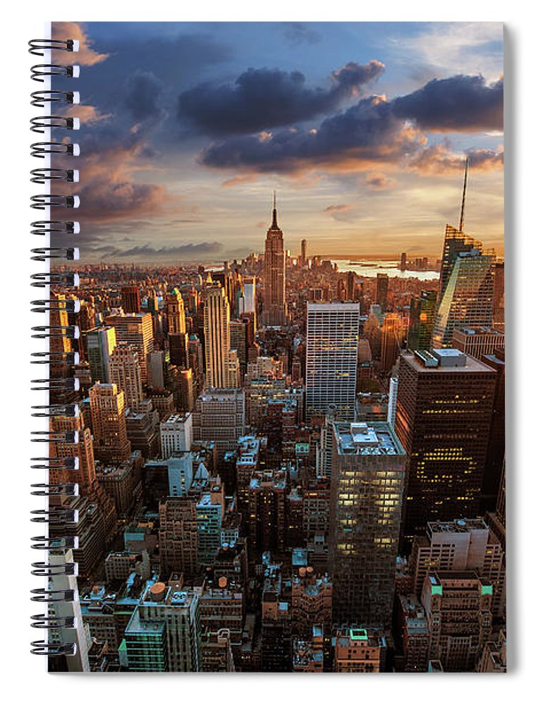 Tranquility Spiral Notebook featuring the photograph New York City Skyline by Dominic Kamp Photography