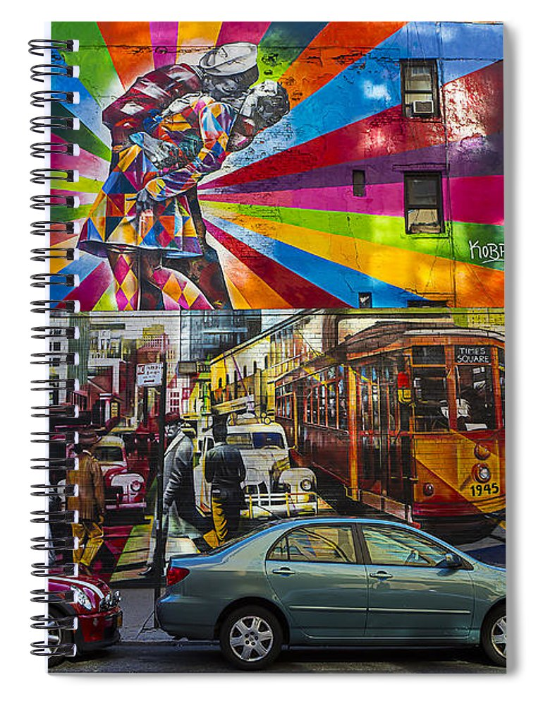New York Spiral Notebook featuring the photograph New York Street Scene by Garry Gay