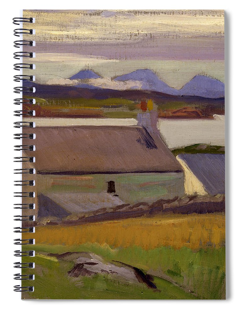 Cadell Spiral Notebook featuring the painting Nightfall Iona by Francis Campbell Boileau Cadell