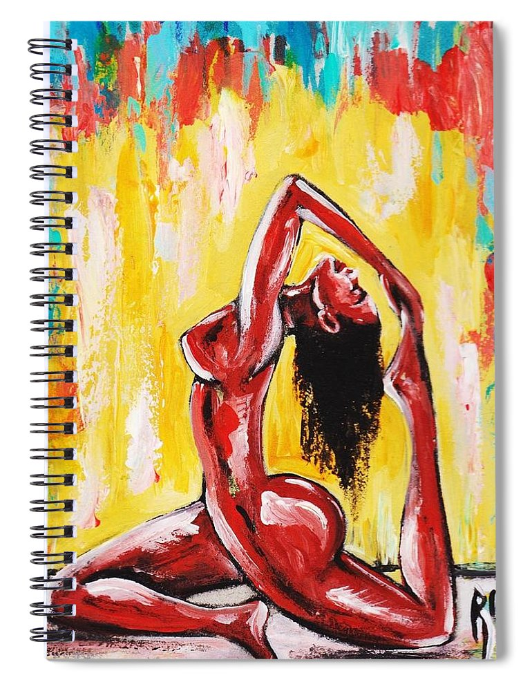 Artbyria Spiral Notebook featuring the photograph No Flex Zone by Artist RiA