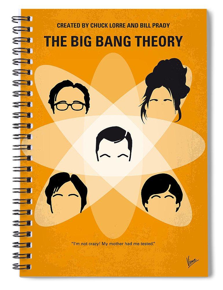 Big Spiral Notebook featuring the digital art No196 My The Big Bang Theory Minimal Poster by Chungkong Art
