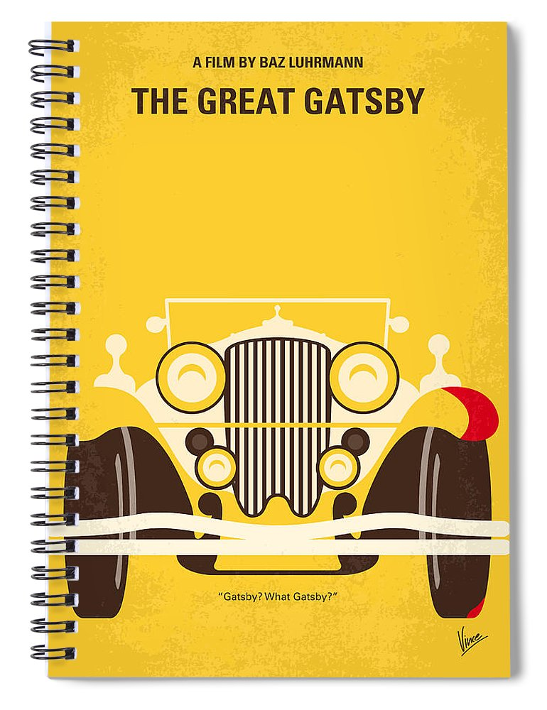 The Spiral Notebook featuring the digital art No206 My The Great Gatsby minimal movie poster by Chungkong Art